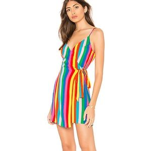 SMUM Say Jay Wrap Dress in Tulum Stripe Cruise